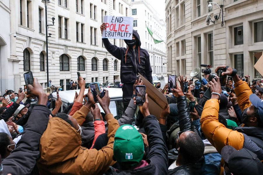 EndSARS: Protesters Rally Outside UK Parliament, Nigeria High Commission –  Arise News